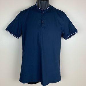 NWT. Zata Navy Blue Polo Shirt. Size S.